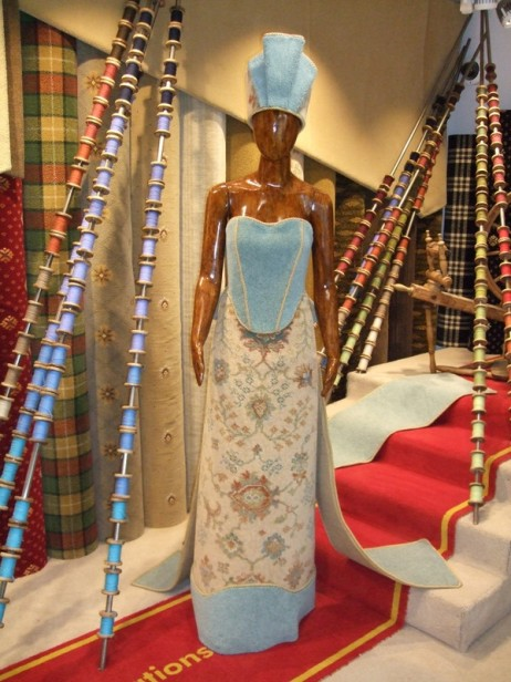 A carpet dress in the entrance foyer
