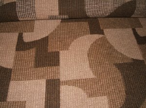 The last length of carpet made using the Kidderminster weave