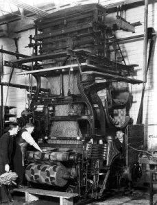 The last Kidderminster loom, operated by TA Naylor Co, was scrapped in December 1932
