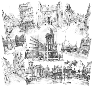 Sketches of old Kidderminster by a Friend of the Museum, RA Sullivan