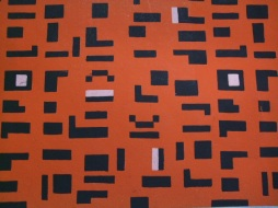 Mosaic design - Orange & Black
