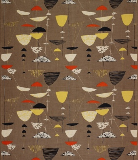 Calyx_screen-printed_furnishing_fabric,_Lucienne_Day,_Heal_s_Wholesale_&_Export,_1951